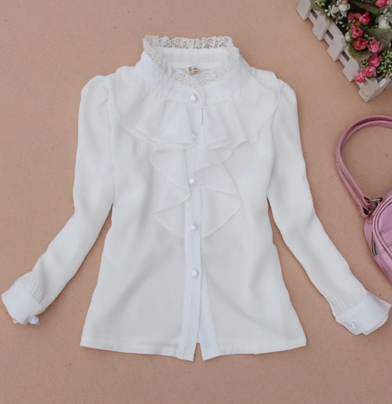 Impressive White Blouse for 7-8 Years Old 2RCP Soft Lightweight Tops READY TO SHIP Girls Tees