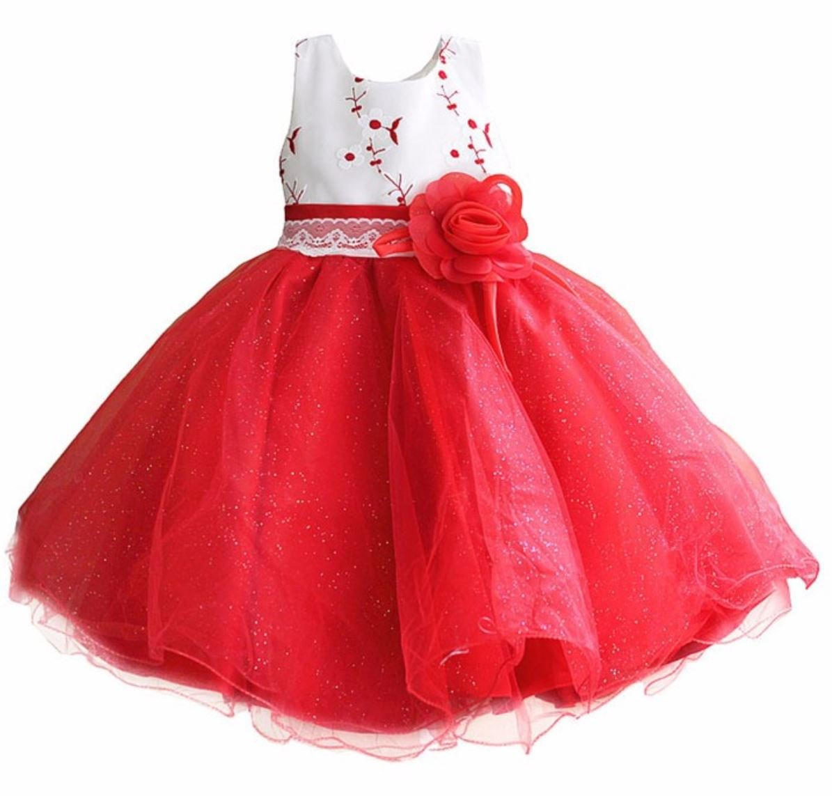 3T Toddler Girls Dress FREE SHIPPING Formal Red Dress Perfect Red Tutu Dress for Pageant Show