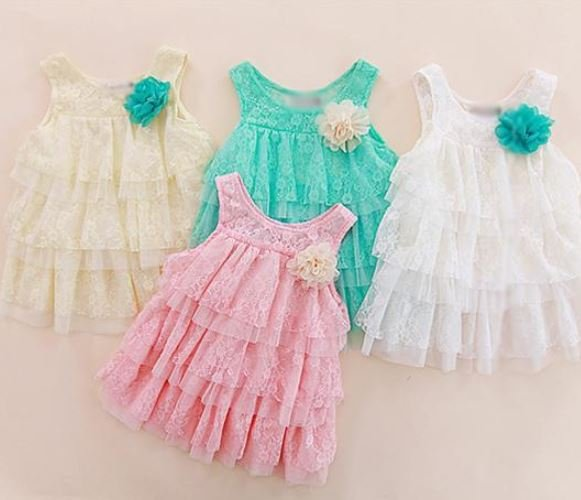 9-12 Months Mintgreen Infant Girls Dress Shaggy Embroidery Dresses Sizes 9-12 Months Ruffles Dresses