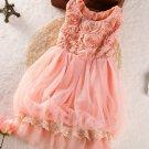 Rosette Dress 3T Coral Pink Baby Dress FREE SHIPPING FREE HEADBAND Stylish Pink Tutu Dress
