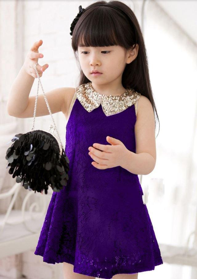 0-3 Months Purple Dress for Newborn Girls FREE Shipping Lavander Color with Free Newborn Headband