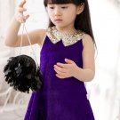 0-3 Months Purple Dress for Newborn Girls FREE Shipping Lavander Color with Free Newborn Headband