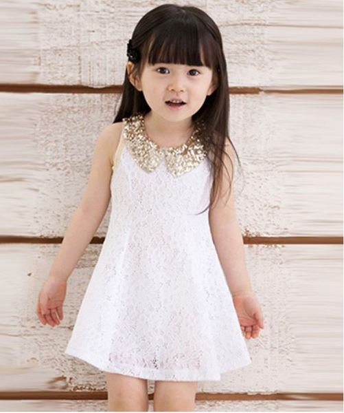 4T White Lacy Dress Soft Texture Cotton Summer Dresses for Girls FREE SHIPPING White Tutus