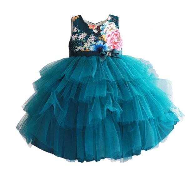 Limited Item SALE 9-12Months Teal Color Girls Dress Thanksgiving Dress Formal Dress FREE HEADBAND