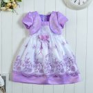 24 Months Lavander Girls Dress with Shrug Birthday Dress Quinceanera Party Dress Baby Dress