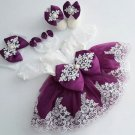 RSS Boutique Luxury Purple Dress 12-24 Months Balloon Purple Tutu Dress with FREE Bow Headband