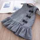 Sleeves Medium Thick Cotton Houndstooth Dress for 12-24 Months FREE SHIPPING Ruffled Black Dresses