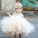 Lovely Baby Dress 5t Ivory Laced Dress with Ivory Headband Communion Luxury Dress Photography Props