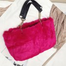 READY TO SHIP Large Bags Hotpink Fur Bags Softer Magenta Purses FREE SHIPPING Tote Bags