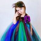 SALE 12-24 months Baby Tutu Dress Peacock Dress Photography Props FREE Peacock HEADBAND
