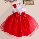 Toddler Girls 18-24mos Red Satin Special Occasion Dress Sequined Dress with FREE Red Bow Headband