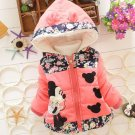 FREE Mittens if You Buy 12-24 Months Disney Peach Minnie Mouse Jacket READY TO SHIP Winter Jackets