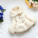 FREE BEANIE if you Buy Warm Ivory Jackets for Girls Parka Faux Fur Soft Ivory Cardigan