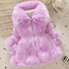18 Months Purple Winter Coats for Girls Lavander Ready for Shipping Fluff Baby Winter Clothes