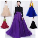 Fashion Maxi Skirts Purple Skirts for Women Ready for Shipping Chiffon Skirts Floor Length Skirts