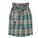 SALE! Plaid Green Skirts Above Knee Skirts for Women Ready to Ship Medium Size Checkered Skirts