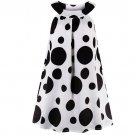 Medium White Tanks for Women White Tunic for Teenage Girls FREE SHIPPING Dresses with Big Polka Dots