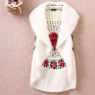 Crochet White vest for Women Winter Vests Free Shipping Cashmere Material Soft White Winter Vests