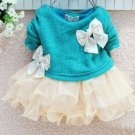 6 Months Turquoise Blue Dress for Baby Girls Ready to Ship Blue Dress Pretty Cotton Long Sleeves