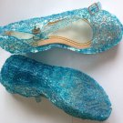 Princess Elsa Shoes for Girls 2T Blue Princess Jelly Shoes US Size Baby Size 6 Shoes