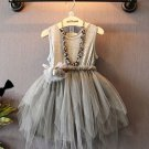 Cute Baby Gray Tutu Dress Gray Dress for Girls Summer Spring Dress for Girls