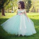 New Dresses for Girls Mint Green Dress Photography Props Girls Tutu Dress FREE Ivory Headband
