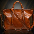 FREE SHIPPING Motorcycle Bags READY TO SHIP Casual Large Bags Hand Carry Brown Leather Bags