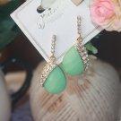 Ready to Ship Mintgreen Drop Earrings Pretty Mint Green Tear Drop Earrings for Women