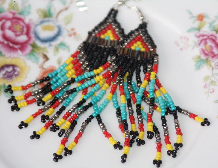 Beautiful Ethnic Tribal Earrings Beaded Earrings Free Shipping Multicolor Earrings for Women