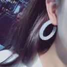Sparkly White Earrings for Women Elegant Cute Acrylic Fashion Hoop Earrings Ready for Shipping