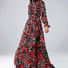 Floral Dresses for Women Printed Roses Floor Length Maxi Dress for Women Free Shipping Leopard Dress