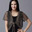 Black Blouse Black Shrug for Women Formal Wear Embroidery Laced Trims Free Shipping Cardigan