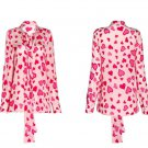 Valentine Blouse for Women Hearts is Ready for Shipping Magenta Blouses for Women