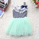 Free Shipping Cute Lacy Dress for Girls Mint Green Baby Dress MintGreen Summer Dress for Girls