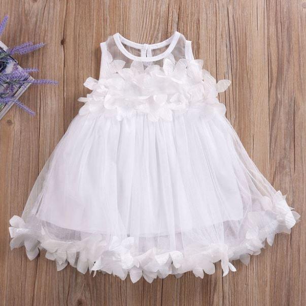 Baby Shower Gift Christening Dress for Baby Girls White Tutu Dress Summer Dress for Baby Girls