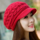Merry Christmas Red Hats for Women Slouchy Hats for Teen Girls with Brim Knitted hats