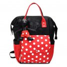 Christmas Gift Polka Dots Dual Backpacks for Teenage Girls Red Minnie Mouse Tote Bags for Women