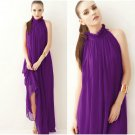 SALE Thanksgiving Dress Eggplant Color Purple Maxi Dress FREE SHIPPING Ankle Length Dress