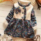 Thanksgiving Day Dress Coat for Infant Girls Fall Season Trench Coats Wool Dress FREE Baby Hats