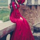 Ankle Length Burgundy Dress for Teenage Girls Size 6 Womens Maxi Dress Very Soft Linen Dresses