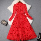 New Trendy Fashion Red Maxi Dress for Women Beautiful Modest Dresses for Elegant Lady