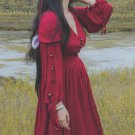 Deep Red Size S Linen Dress for Teenage Girls Dress Spring Slim Casual Long Sleeve Maxi Dresses