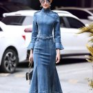 Free Shipping Mermaid Style Denim Dress for Women Beautiful Dress Slim Fit Women's Maxi Dress