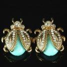 Mintgreen Earrings for Women Fashion Trend Mintgreen Ladybugs Stud Earrings for Teens