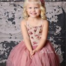 Shabby Chic Purple Dress 6t with Matching Headband FREE SHIPPING Tiny Roses Floral dress for Girls