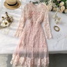 Pink Maxi Dress for Women Pink Dress for Teenage Girls FREE SHIPPING Sheer Embroidery Floral Dresses