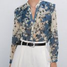 Gorgeous Ruffled Blouses for Women Vintage Floral Prints Spring Blouses Mandarin Collar