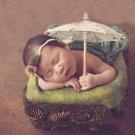 Biege Parasol Props Matching Beige Baby Headband Accessory FREE SHIPPING Umbrellas