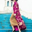 Vintage Dresses for Women Hot Pink Trench Coats for Women Floral Prints Elegant Princesses