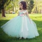 Beautiful Girl's Mintgreen Dress Photography Props Girls Tutu Dress FREE Ivory Headband